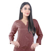 Karizma Chahat Printed Lawn 1 Pcs Un-Stitched Kurti - Dark Brown