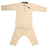 Boys Embroidered Kurta Pajama - Fawn