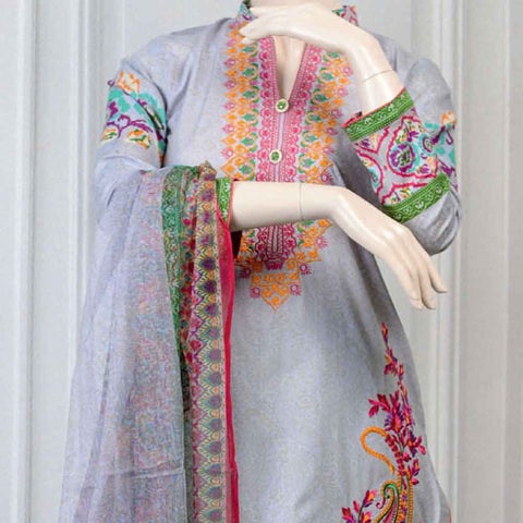 Pristine Embroidered Lawn Suit - FL1A - test-store-for-chase-value