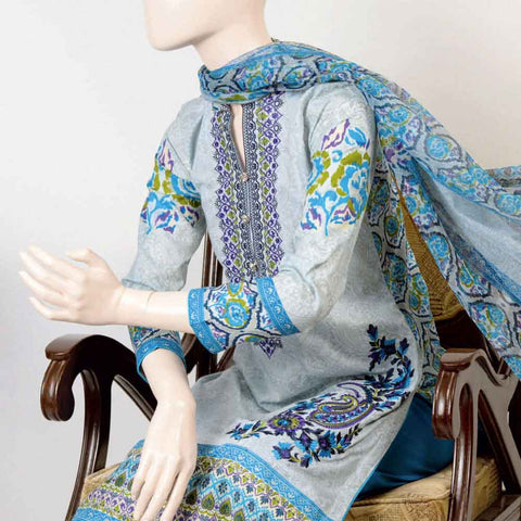 Pristine Embroidered Lawn Suit - FL1B - test-store-for-chase-value