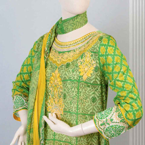 Pristine Embroidered Lawn Suit - FL2A - test-store-for-chase-value