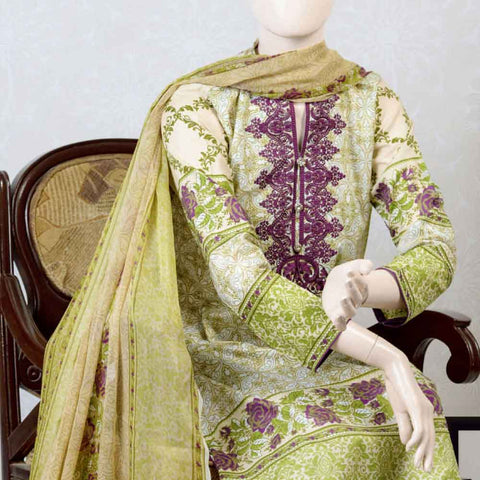 Pristine Embroidered Lawn Suit - FL3B - test-store-for-chase-value