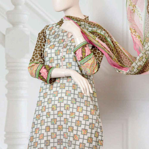 Pristine Embroidered Lawn Suit - FL4A - test-store-for-chase-value