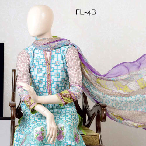 Pristine Embroidered Lawn Suit - FL4B - test-store-for-chase-value