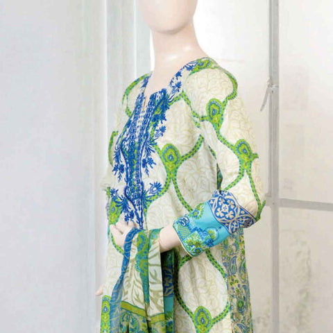 Pristine Embroidered Lawn Suit - FL5A - test-store-for-chase-value