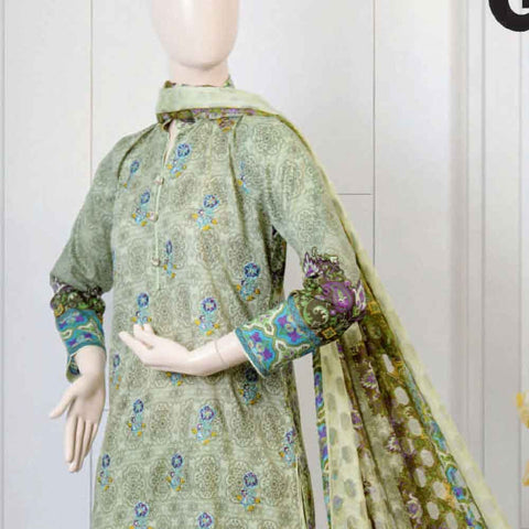 Pristine Embroidered Lawn Suit - FL6A - test-store-for-chase-value