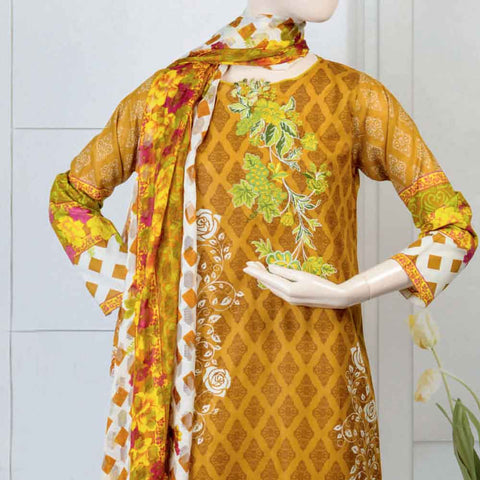 Pristine Embroidered Lawn Suit - FL8A - test-store-for-chase-value