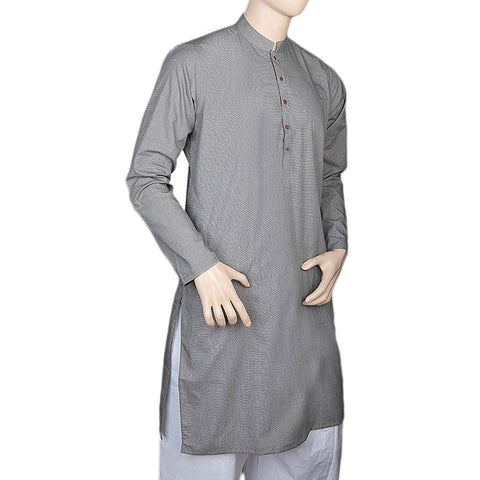 Eminent Trim Fit Kurta For Men - Light Grey