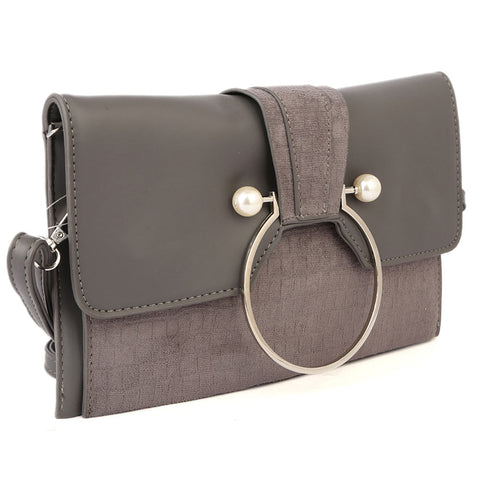 Ladies Clutch 68011 - Grey