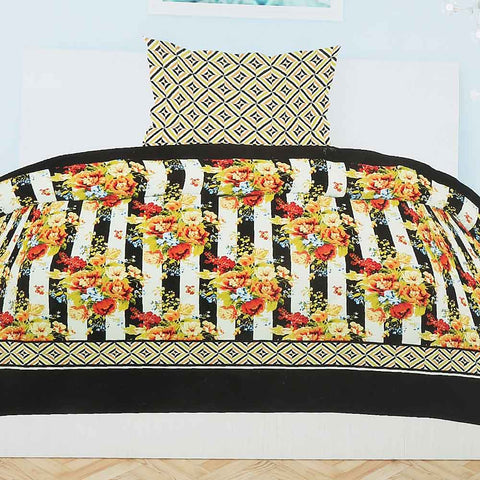 Printed Percale Finish Single Bed Sheet Set 2 pcs - Multi