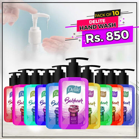 Delite Hand Wash 400ml Pack Of 10 - test-store-for-chase-value
