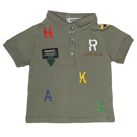 Boys Half Sleeves Polo T-Shirt - Green
