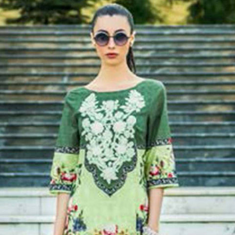 Honey Waqar Luxury Embroidered Lawn 3 Piece Un-Stitched Suit - B4