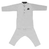Boys Embroidered Kurta Pajama - Light Grey