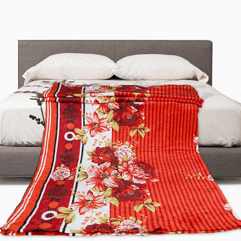 Double Bed Fleece Blanket - Multi