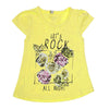 Girls Half Sleeves T-Shirt - Yellow