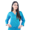 Karizma Chahat Printed Lawn 1 Pcs Un-Stitched Kurti - Light Blue