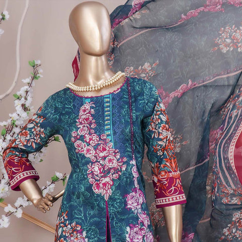 Schick Embroidered Lawn 3 Piece Un-Stitched Suit - 04