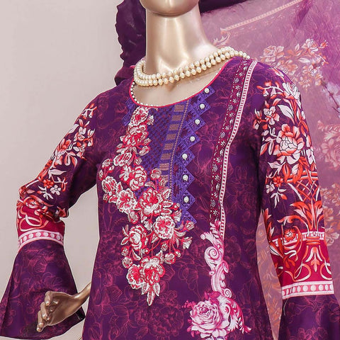 Schick Embroidered Lawn 3 Piece Un-Stitched Suit - 12