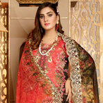 Royal Embroidered Viscose Jacquard 3 Piece Un-Stitched Suit - MS313