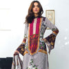 Nisha Bawany Embroidered Lawn 3 Piece Un-Stitched Suit - 1A