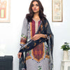 Nisha Bawany Embroidered Lawn 3 Piece Un-Stitched Suit - 1B