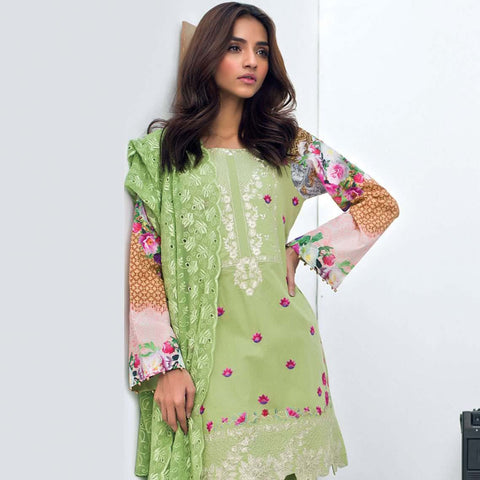 Nisha Bawany Embroidered Lawn 3 Piece Un-Stitched Suit - 5A