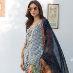 Nisha Bawany Embroidered Lawn 3 Piece Un-Stitched Suit - 7A