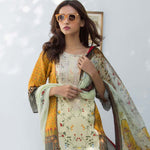 Nisha Bawany Embroidered Lawn 3 Piece Un-Stitched Suit - 8A