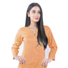 Karizma Chahat Printed Lawn 1 Pcs Un-Stitched Kurti - Orange