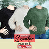 Women's Full Sleeves Sweater Pack Of 3