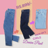 Girls Denim Pant Pack Of 3 - Multi