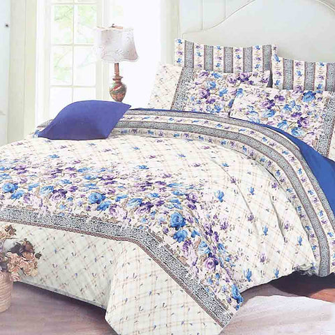 Printed King Size Mix & Match Bed Sheet 3 Piece Set - Multi