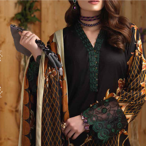 Silkoria Embroidered Lawn 3 Piece Un-Stitched Suit - RC-162 A - test-store-for-chase-value