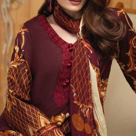 Silkoria Embroidered Lawn 3 Piece Un-Stitched Suit - RC-162 B - test-store-for-chase-value