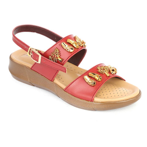 Women's Sandal ( S-222 ) - Red