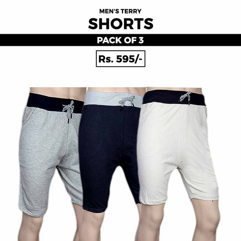 Men's Terry Shorts Pack Of 3