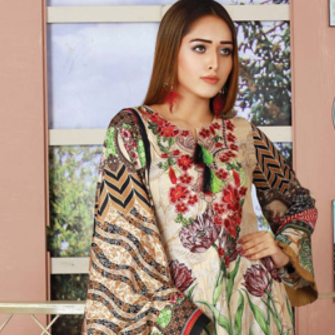 Libas Embroidered Lawn 3 Piece Un-Stitched Suit Vol 06 - ST 3A