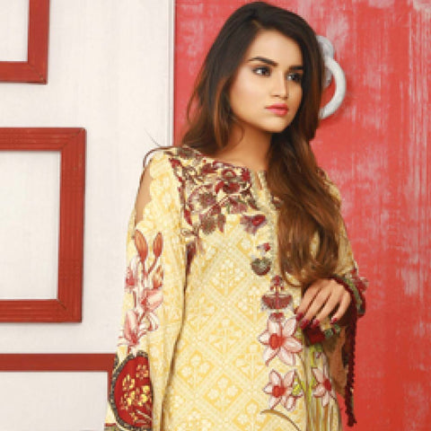 Libas Embroidered Lawn 3 Piece Un-Stitched Suit Vol 06 - ST 4A