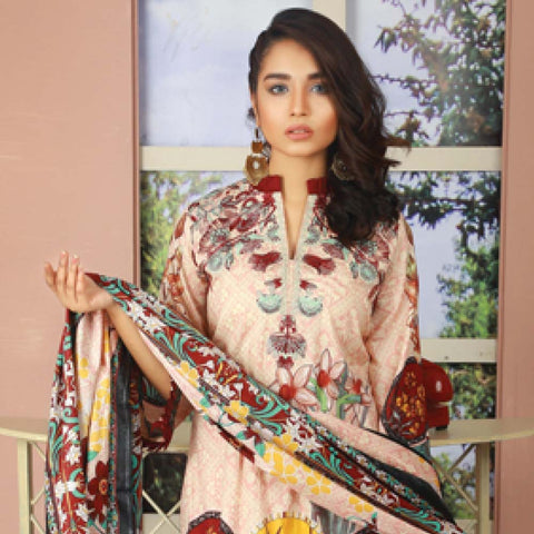 Libas Embroidered Lawn 3 Piece Un-Stitched Suit Vol 06 - ST 4B