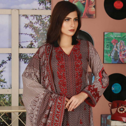 Libas Embroidered Lawn 3 Piece Un-Stitched Suit Vol 06 - ST 5A