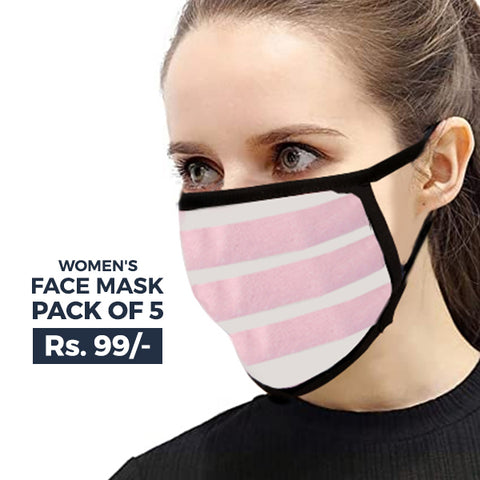 Women's Face Mask Pack of 5 - Multi