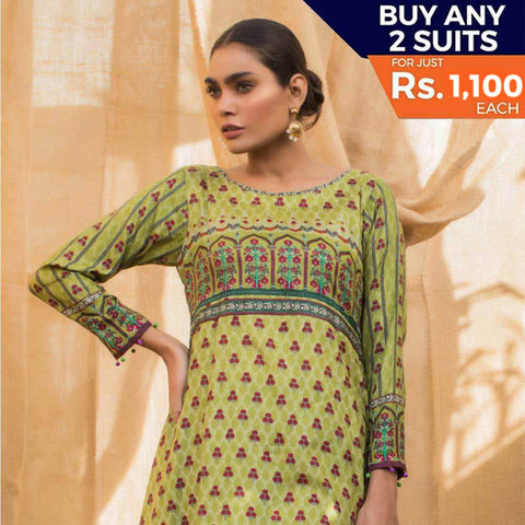 Rangreza Printed Lawn 3 Piece Un-Stitched Suit Vol 2 - 3