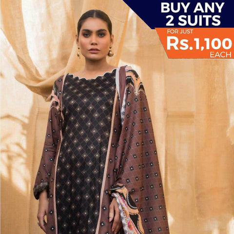 Rangreza Printed Lawn 3 Piece Un-Stitched Suit Vol 2 - 8