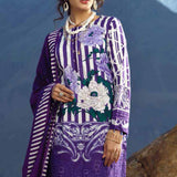 Zure Embroidered Cotton 3 Piece Un-Stitched Suit - 422B