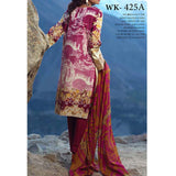 Zure Embroidered Cotton 3 Piece Un-Stitched Suit - 425A