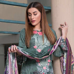 Zobia Noor Embroidered Digital Lawn 3 Piece Un-Stitched Suit - 012