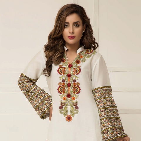 Signature Icon Printed Lawn 3 Piece Un-Stitched Suit Vol 2 - ZS 03 B - test-store-for-chase-value