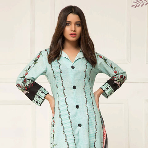 Signature Icon Printed Lawn 3 Piece Un-Stitched Suit Vol 2 - ZS 04 B - test-store-for-chase-value