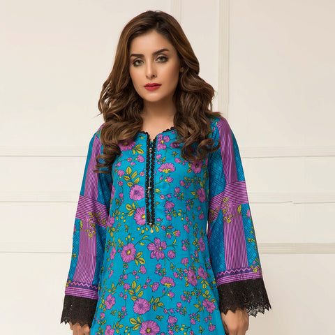 Signature Icon Printed Lawn 3 Piece Un-Stitched Suit Vol 2 - ZS 05 A - test-store-for-chase-value